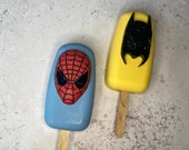 Superhero Themed 3 Piece Silicone Mould Package / Superhero Themed 3 Piece Silicone Mold Package