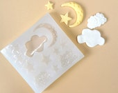 Cloud Moon Stars Silicone Mould / Cloud Moon Stars Silicone Mold