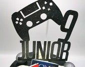 Playstation themed cake topper / Personalised Playstation themed cake topper package /  Name & Age Playstation themed cake topper package