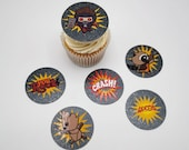Guardians of the Galaxy themed double layer cupcake toppers