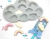 Rainbow, Raindrop and Cloud Silicone Mould/ Rainbow, Raindrop and Cloud Silicone Mold