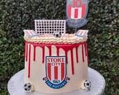 Football Themed Acrylic Cake Topper / floating cake charm