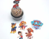 Paw Patrol themed cupcake toppers