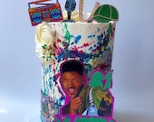 Fresh Prince cake topper package / Personalised Fresh Prince l cake topper package /  Name and Age Fresh Prince cake topper package