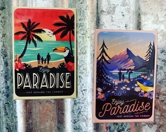 Vintage Paradise Prints Magnet Bundle of 5