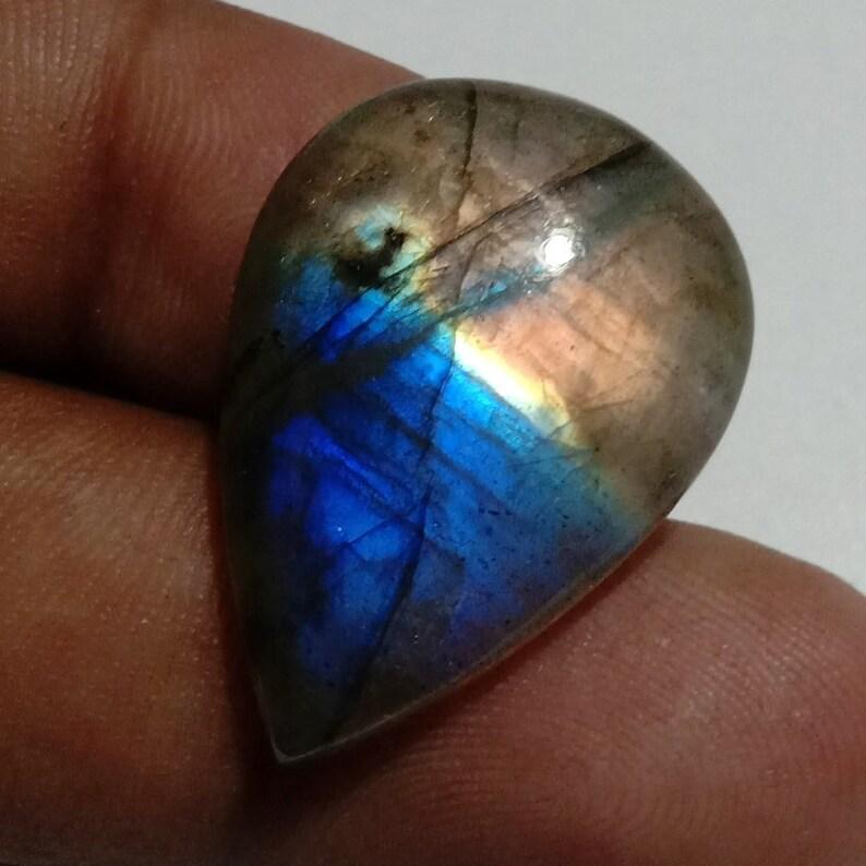 Beautiful Multi Fire Labradorite Gemstone Excellent Multi Fire Labradorite Cabochon Jewelry making Pear Shape 28x20x6 mm 23.5 Cts A#1-17