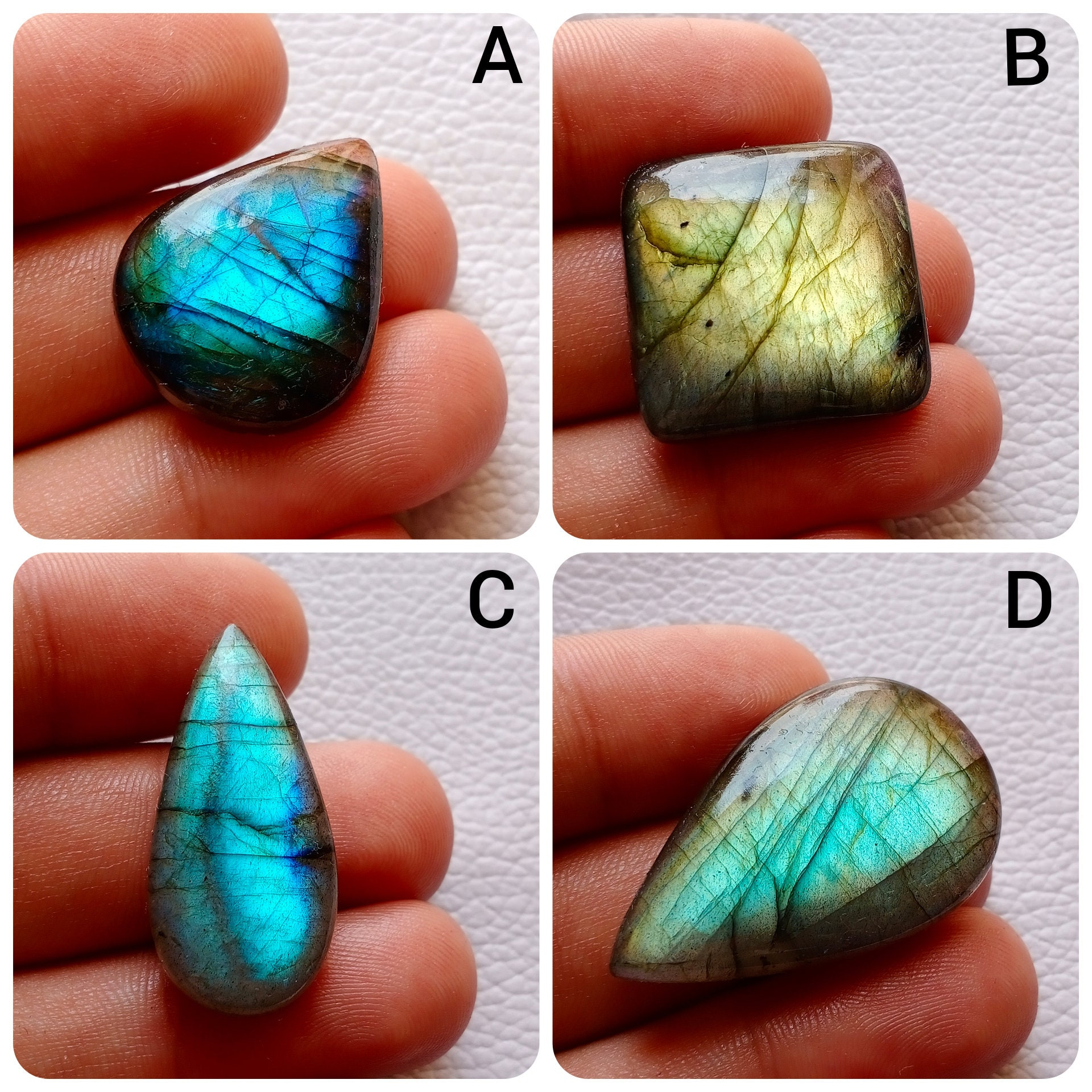 Labradorite Pendant Beads for Wirewrapping Jewelry Cabochons Labradorite Stone AAA Natural Labradorite Crystal Flashy Labradorite Beads