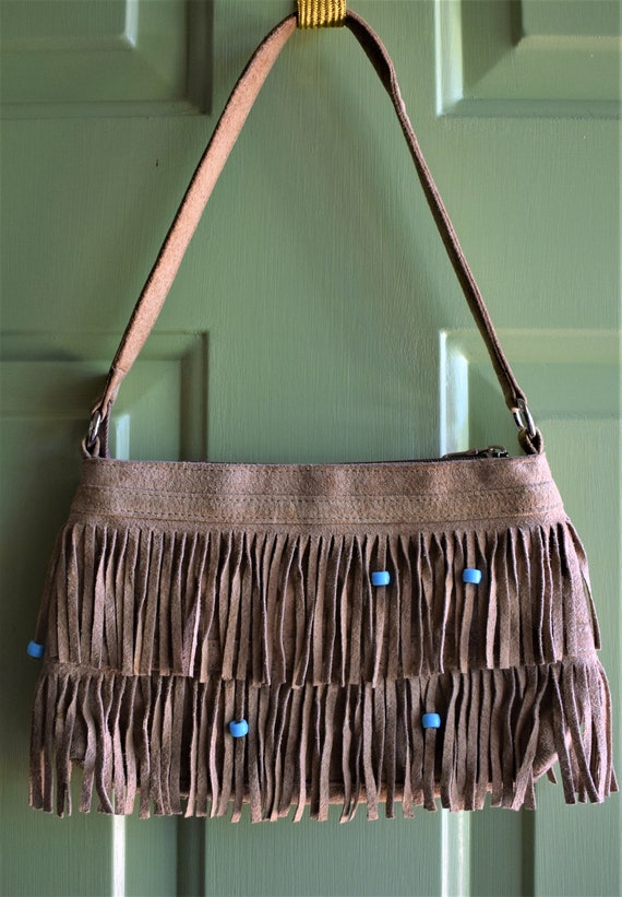 Vintage Wilson's Leather Suede Fringe Hand Bag