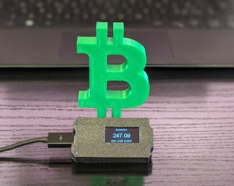 Crypto Ticker, Bitcoin Cash real time Price, Wifi Display (support BTC, ETH, BCH, etc)