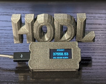 Crypto Ticker, HODL real time Price, Wifi Display (May 2021 crash special edition)