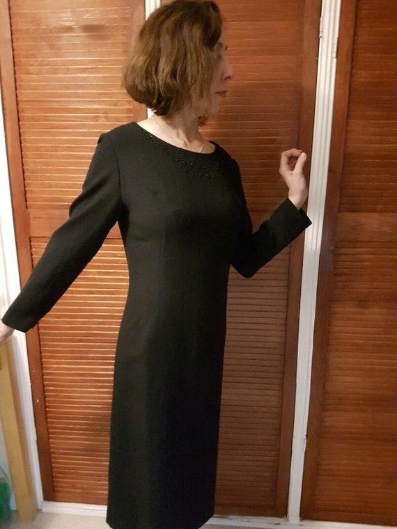 Vintage Black Dress, 1950's Cocktail Dress With So