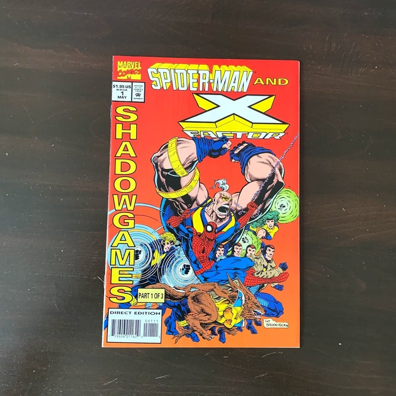 Vintage Comic First Issue Spiderman & X Factor  Shadowgames image 0