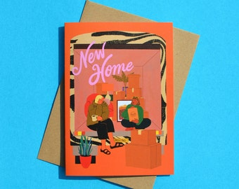 New Home Greeting Card for Two Women, Moving, Housewarming, Congrats, Gay Couple, Lesbian, LGBTQ+, Queer, Roommates, Housemates