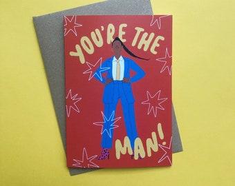 Female Empowerment Greeting Card, Feminist, Strong Woman, Friendship, Encouragement, Congratulations, New Job, Birthday, Eco-Friendly