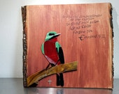 Emerald Stained Glass Mosaic Bird