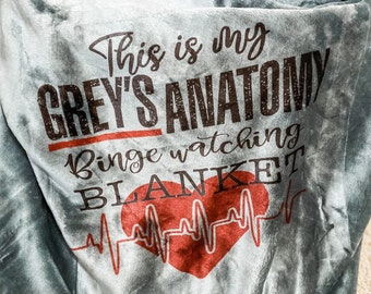 Grey's Anatomy Watching Blankets - Personalize with Name / This is my Grey's Anatomy Watching Blanket