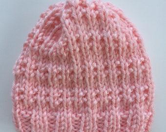 Pink Winter Knit Hat // Winter Hat // Chunky Knit Hat // Gift under 30 // Gift for her // Knit Beanie // Handknit // Winter Essentials