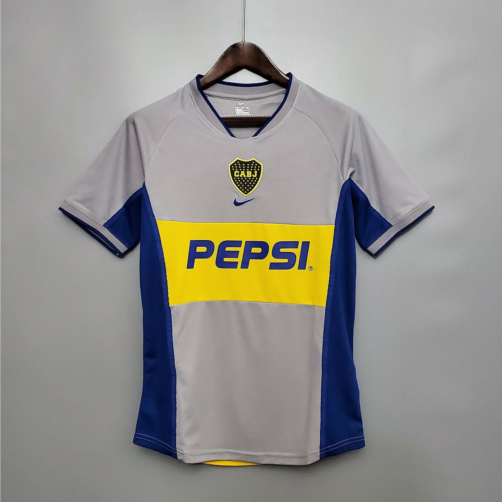 Retro Boca Juniors Away Soccer Jersey 2002 Men Adult