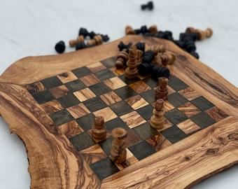 chess board, wooden chess board, chess set , wood chess board, birthday gift , gift for him, gift for her, wedding gift