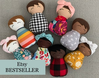 Choose TWO, Baby's First Doll, Baby Doll Set, Brown Skin Baby, BIPOC, Cultural Doll, Melanin Baby, Black Baby, Ethnic Doll, Diversity Doll