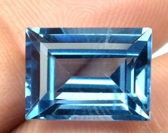 Fine Quality Faceted Octagon Radiant Cut Stone Loose Rare Gemstone Cut-2000 48.45 Ct AAA Flawless Royal Blue Sapphire Emerald Cut Gemstone