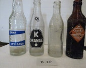 vintage soda bottles - rare collectible bottles
