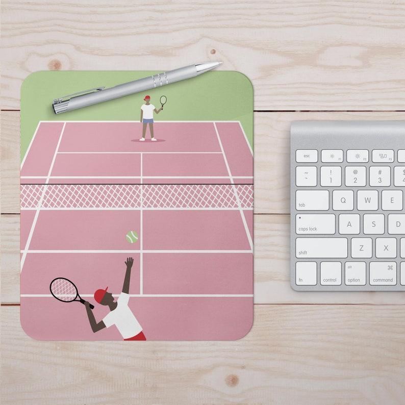 Tennis Mouse Pad Mouse Mat Desktop 9X7 inch Mouse Mat PC Mouse Mat Computer Pad sport ball figurine game