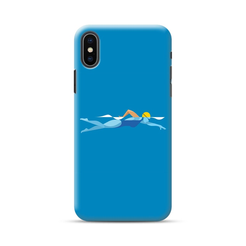 Swimming iPhone Case XR X XS 11 Pro Max 7 8 Plus 6 12 mini SE 2020 Phone Case Plastic Silicone Cell Phone Cover sport sea water pool case