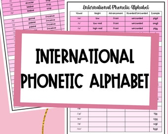 Phonetics Etsy