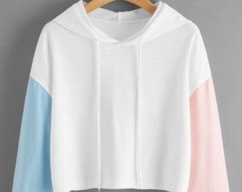 Colorblock Sleeve Hoodie
