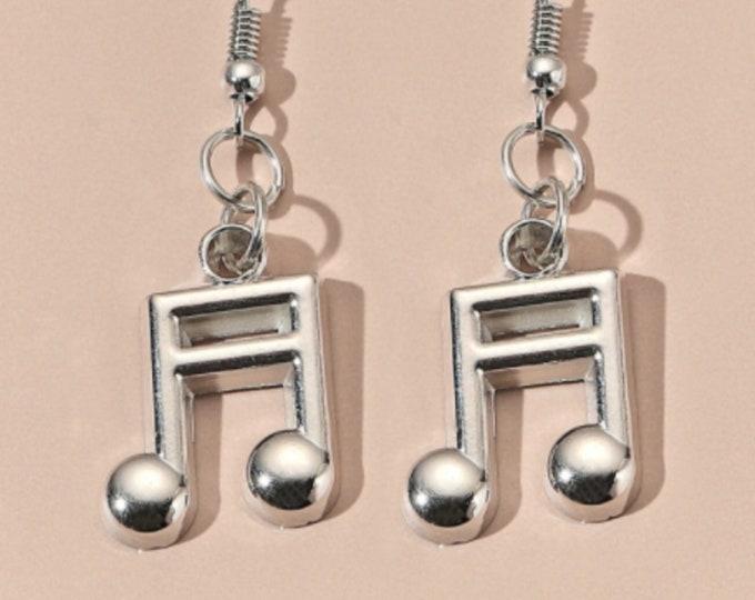 Music & Poker Drop Earrings