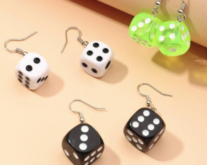 Dice Drop Earrings