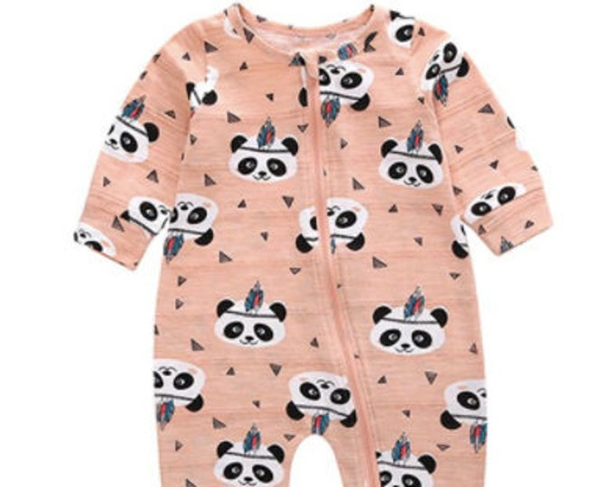 JUMPSUIT FOR BABY - Cotton Jump Suit - Printed Jumpsuit - Baby Fashion Outfit - Panda Baby Suit - Little Baby Dresses