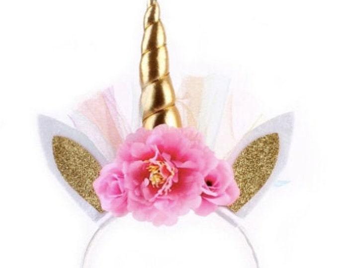 Unicorn Style Flower Trim Party Head Band