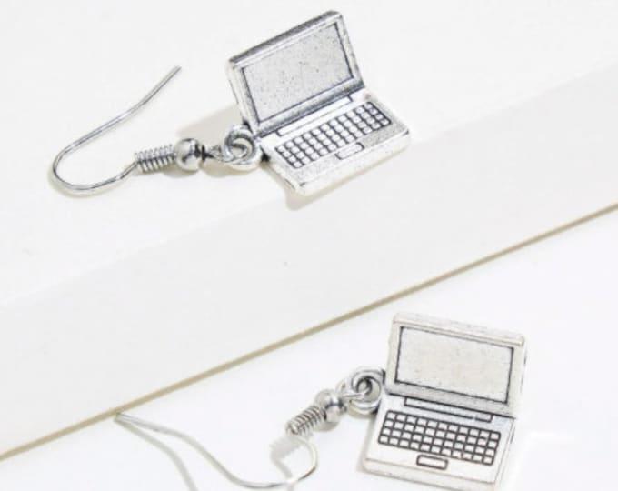 Laptop  Drop Earrings