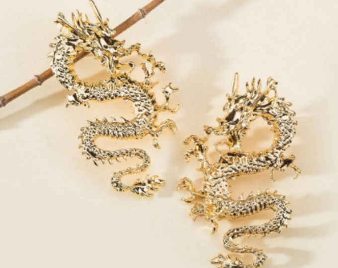 Dragon Drop Dangle Earrings