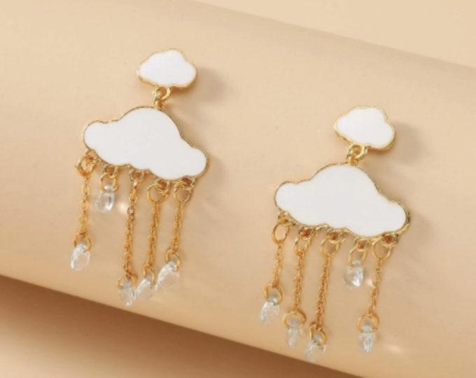 Cloud & Lightning Drop Earrings
