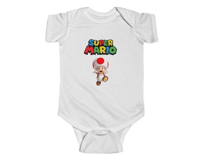 Super Mario | Toad | Infant Fine Jersey Bodysuit