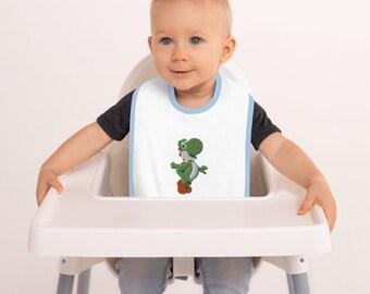 YOSHI Embroidered Baby Bib