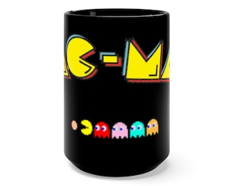 PAC MAN Black Mug 15oz