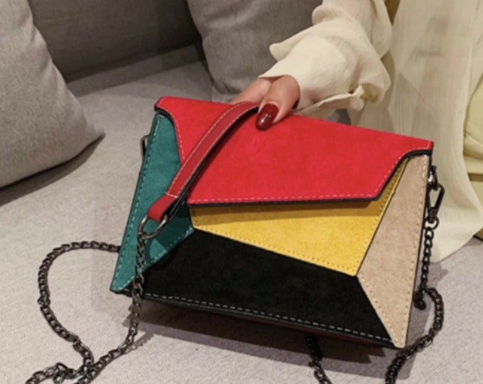 Colorblock Crossbody Bag