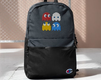 PAC MAN Embroidered Champion Backpack