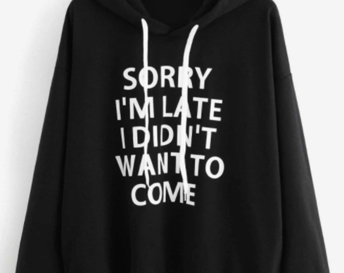 I didn't want to come Drop Shoulder Hoodie