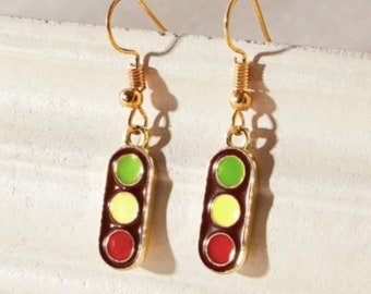 Traffic Light Drop Earrings