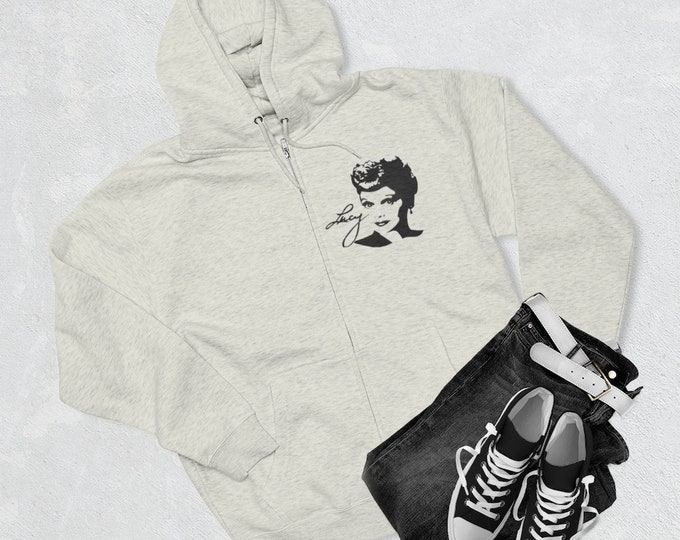 I Love Lucy Unisex Premium Full Zip Hoodie