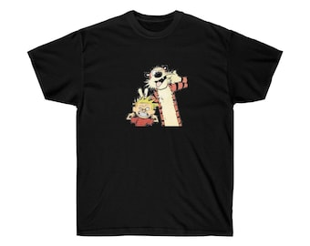 CALVIN AND HOBBES Unisex Adult Ultra Cotton Tee