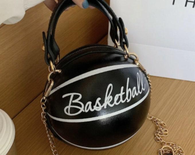 BASKETBALL PURSE | BLACK | trendy
