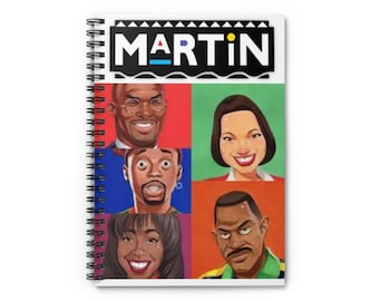 Martin TV Show Spiral Notebook - Ruled Line