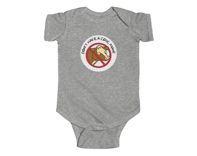 THE SIMPSONS Don't Have A Cow Man Infant Fine Jersey Bodysuit