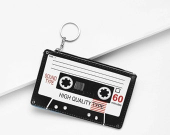 CASSETTE COIN PURSE | Small | Black
